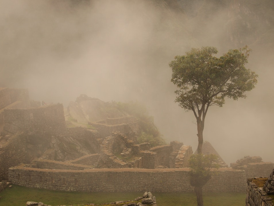 Ruins in the Mist Urubamba  Peru
