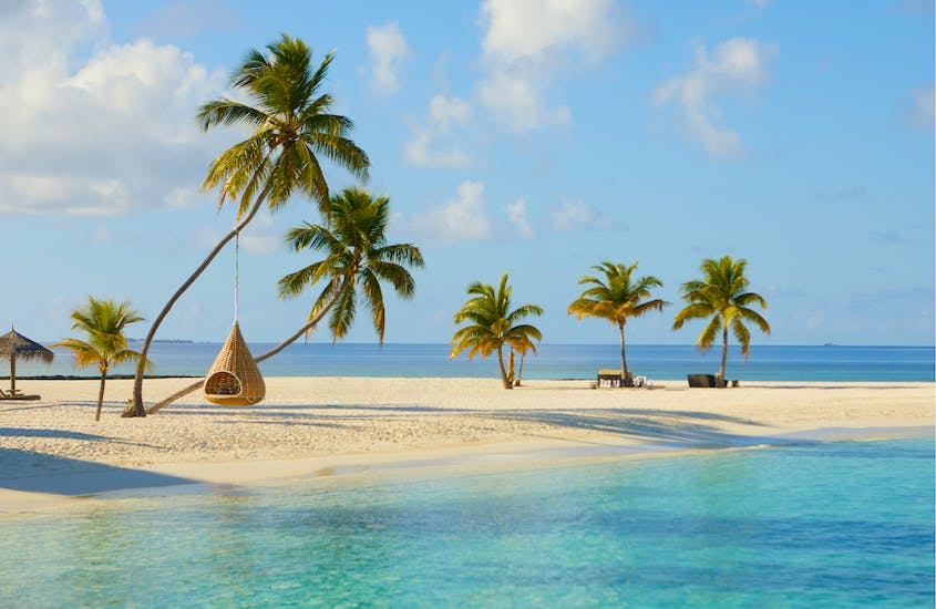 Visitors to the Maldives do not have to quarantine, but must be registered to stay at a resort.
