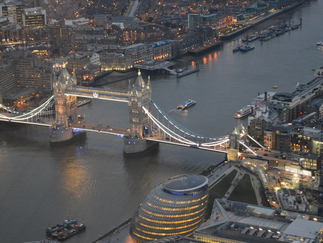 See London from Above, at Twilight