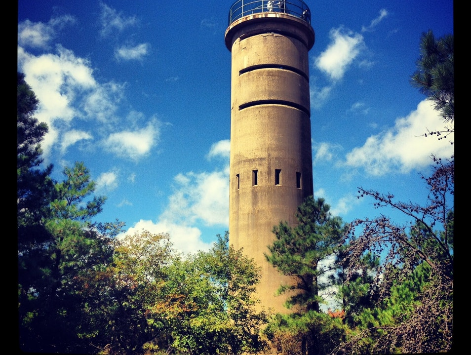 Climbing the War Towers in Cape Henlopen Lewes Delaware United States