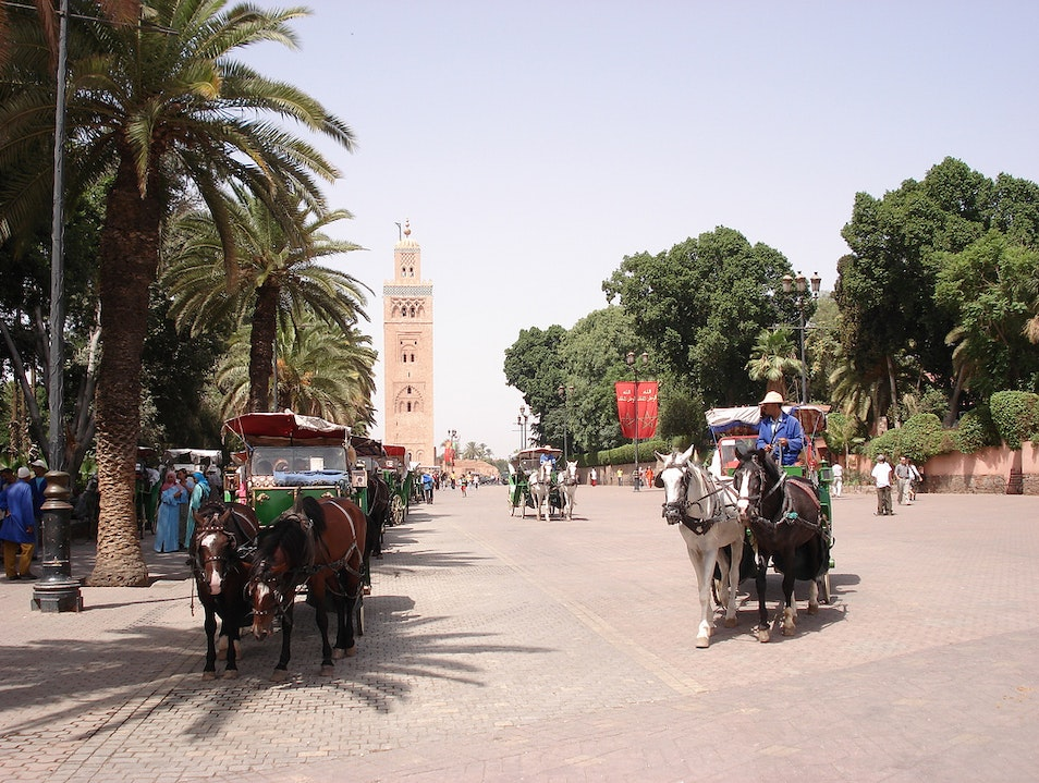 Explore by horse-drawn carriage Marrakech  Morocco