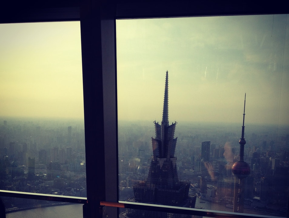 Sunset Drinks from the 98th Floor Shanghai  China