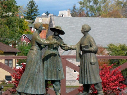 Three Women's Statue Seneca Falls New York United States