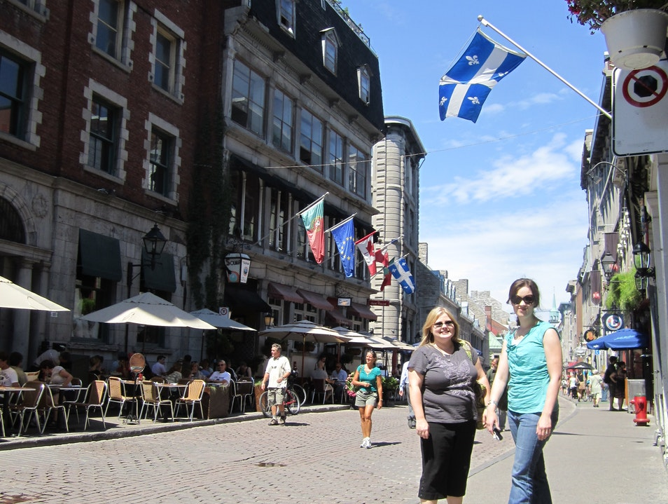 Enjoying the afternoon in Vieux Montreal