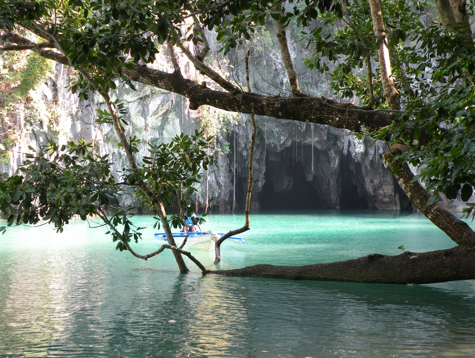 Underground river in Sabang Puerto Princesa  Philippines