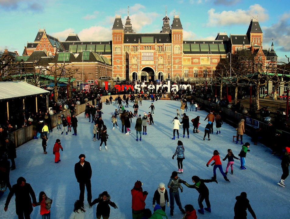 Fun on ICE* at Amsterdam's Museumplein Amsterdam  The Netherlands