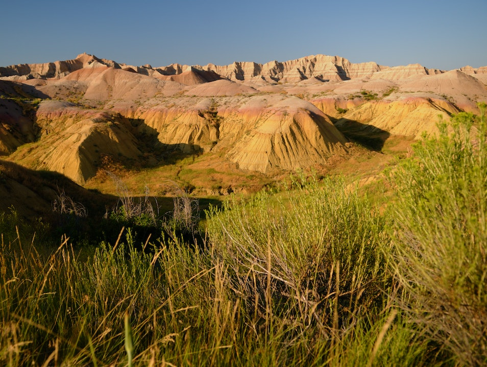 Finding 'Americana' in the Badlands Interior South Dakota United States