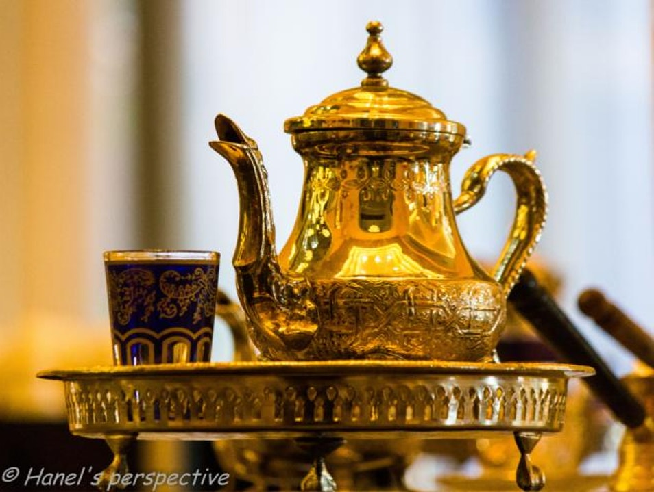 Beat the heat with hot tea! Say the Bedouins Marrakech  Morocco