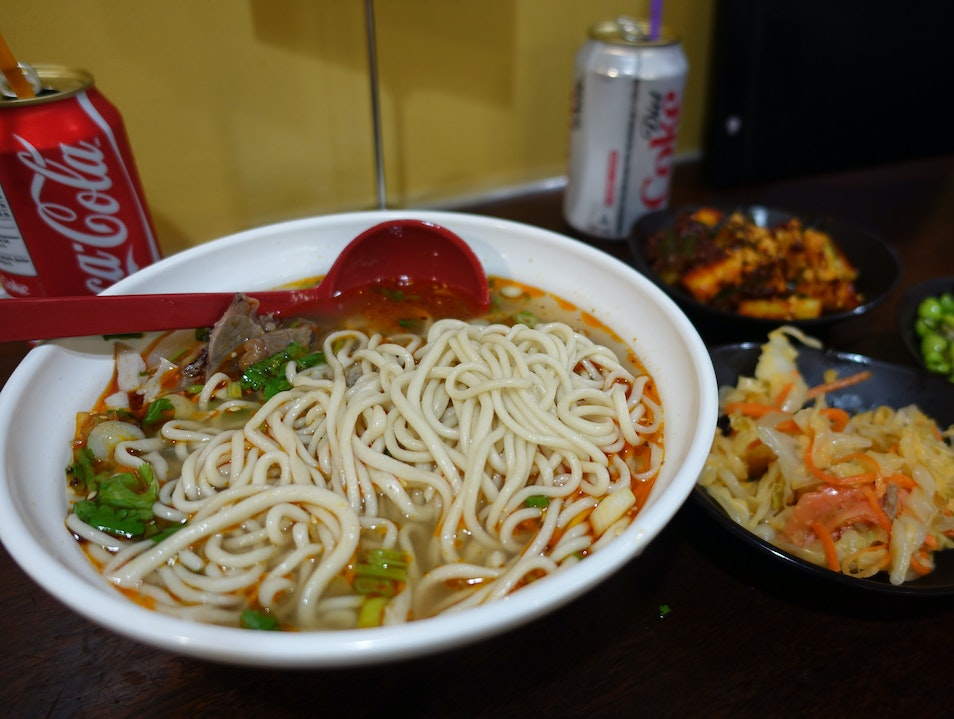 Noodles Made on the Spot and Served Fresh and Hot