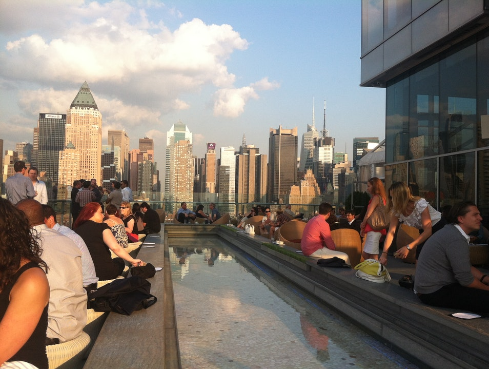 Hell's Kitchen's Rooftop Lounge New York New York United States