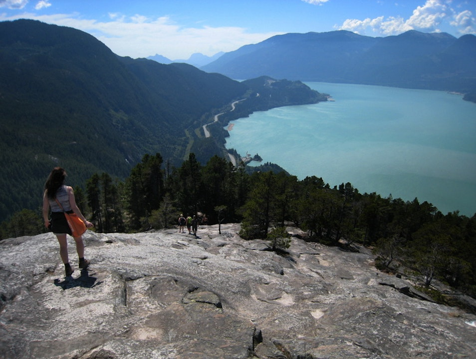 Hiking the Stawamus Chief Squamish  Canada