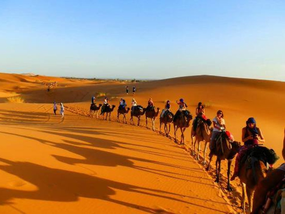 Camel Trek one night in the desert Merzouga