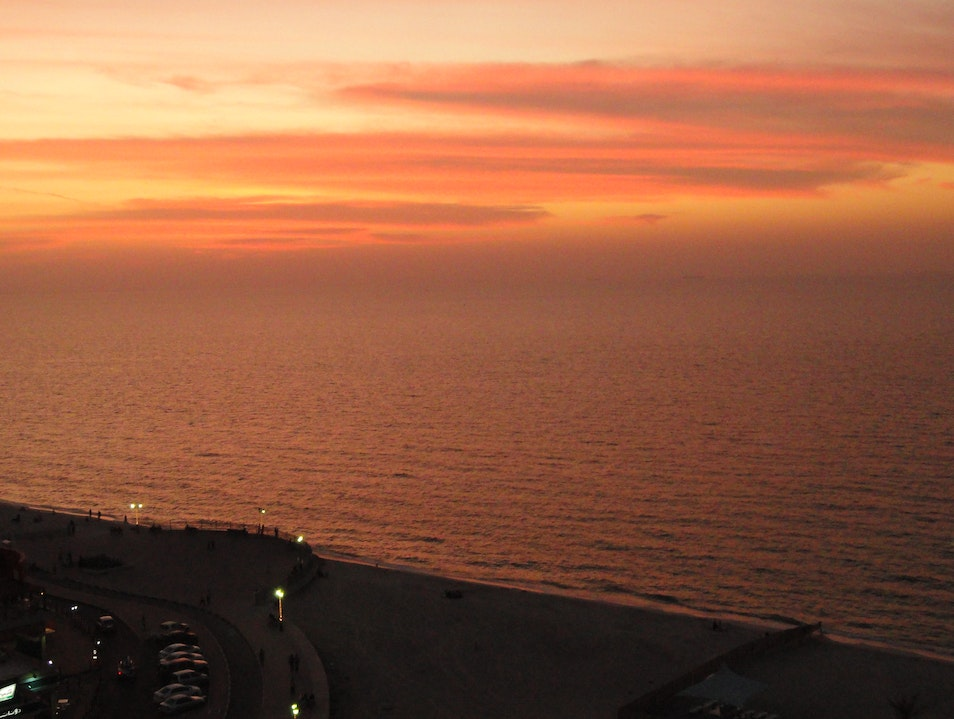 Sunset over the Persian Gulf