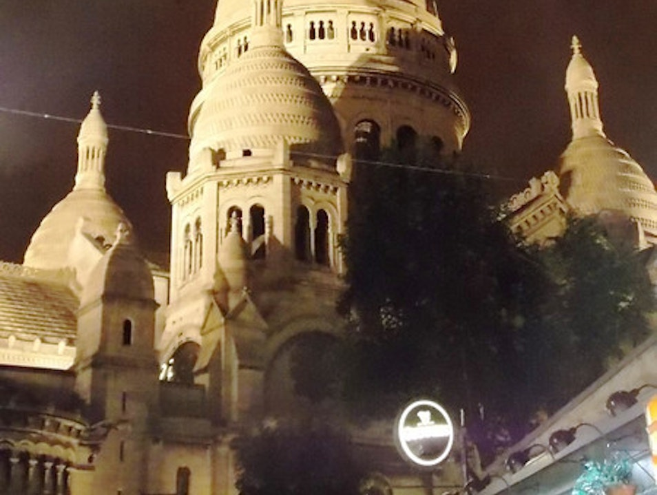 Night time at the Sacre Coeur Paris  France