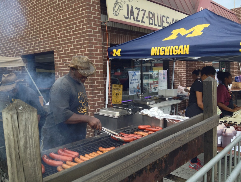 Authentic BBQ in Eastern Market Detroit Michigan United States