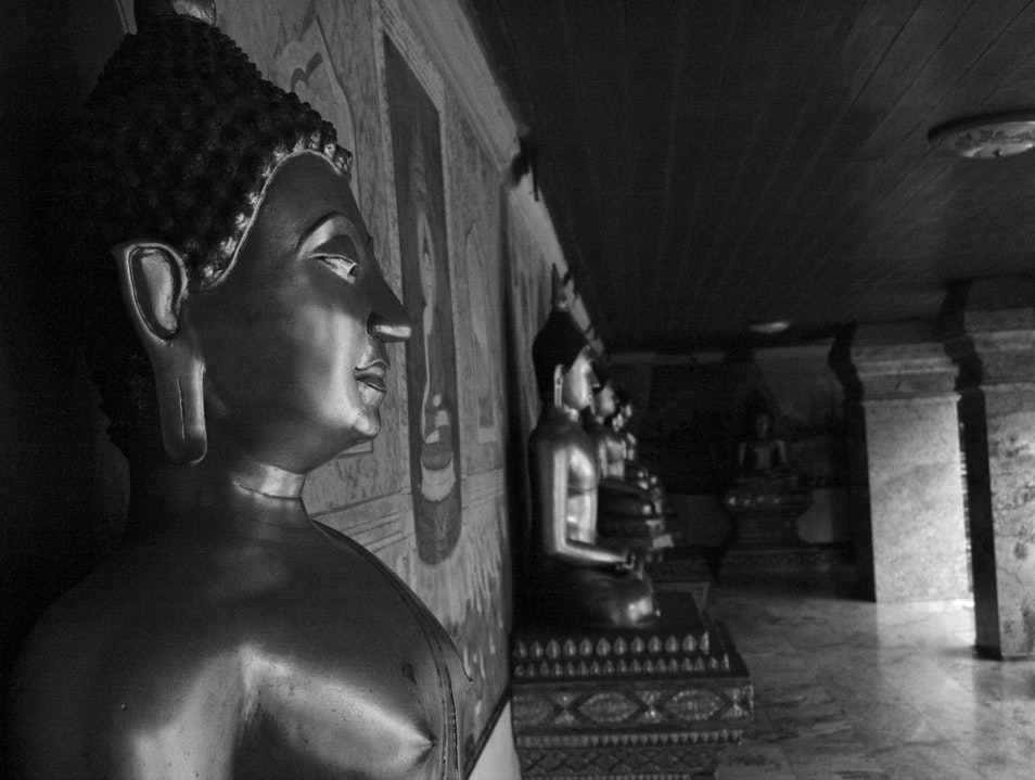 Buddhas in Monochrome Mueang Chiang Mai  Thailand