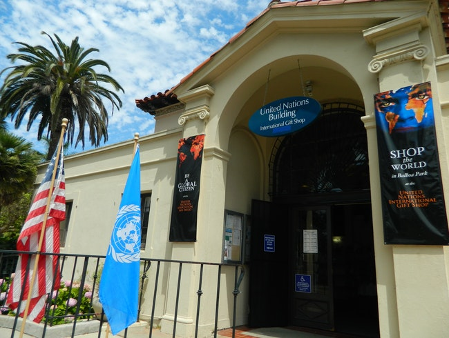 United Nations International Gift Shop in Balboa Park, San Diego