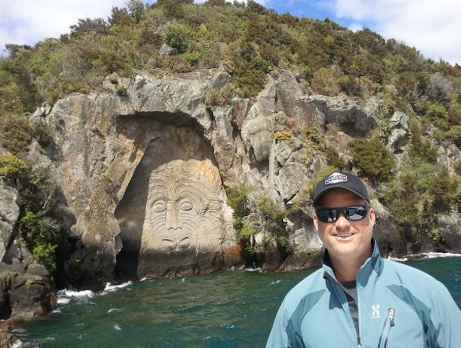 Maori Carvings at Lake Taupo
