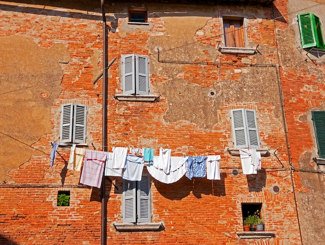 Drying Laundry - Eco Friendly Style