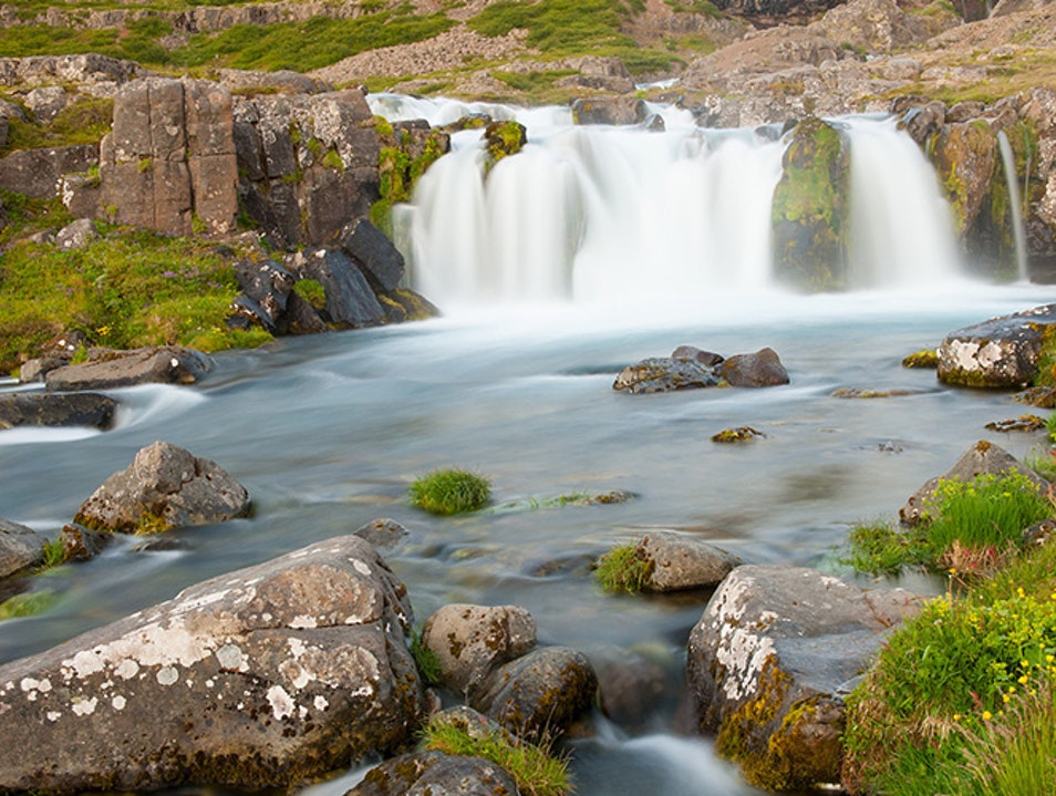 Dynjandi Waterfall Westfjords Region  Iceland