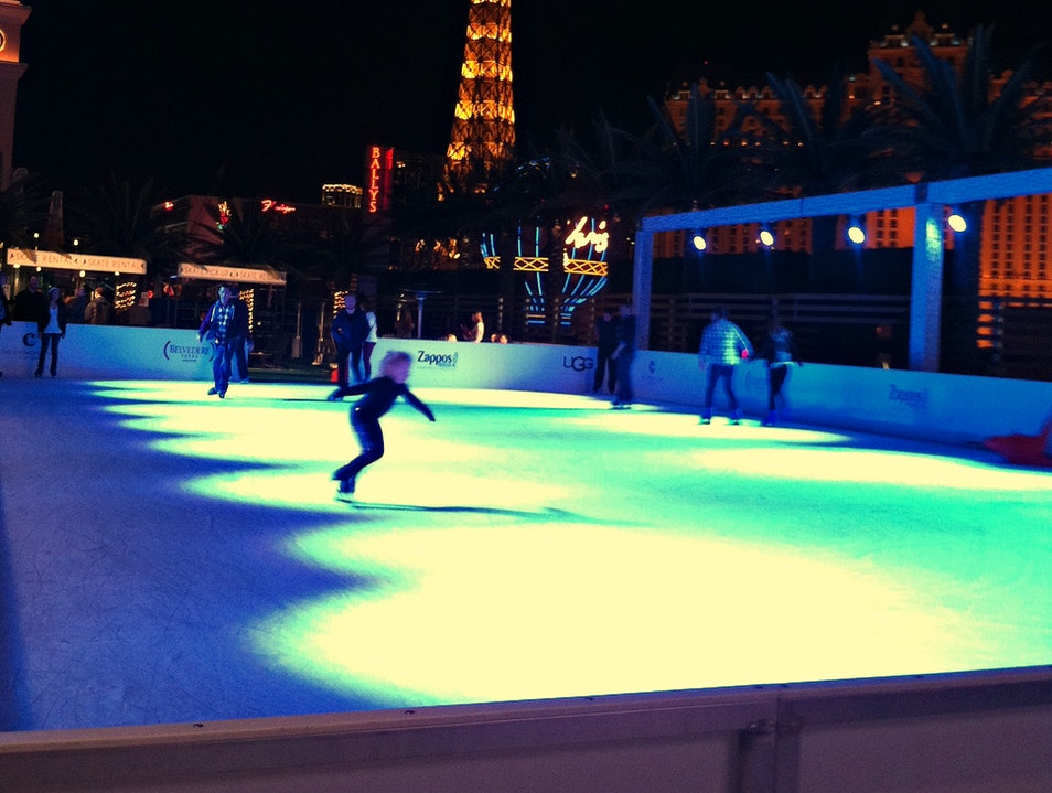Ice Skating in the Desert Las Vegas Nevada United States