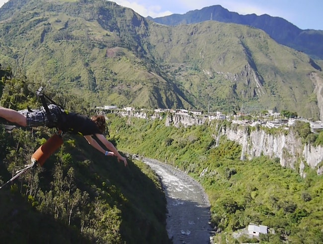 Leap from a Bridge in Baños