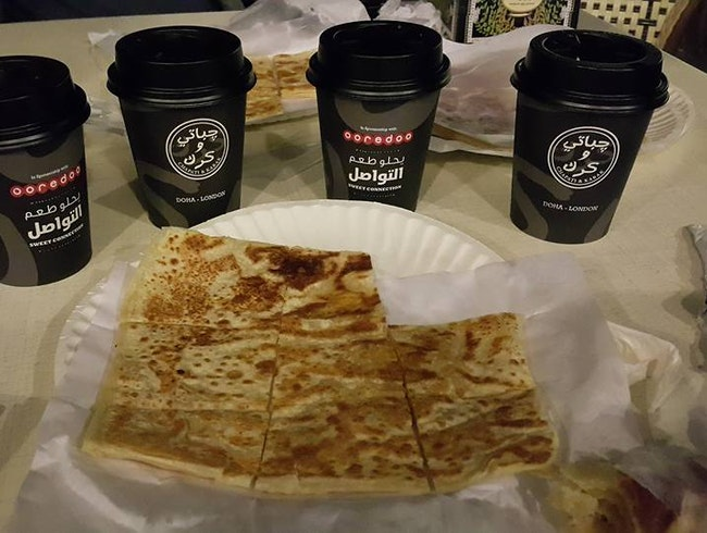 Flat Bread with Spice Black Tea