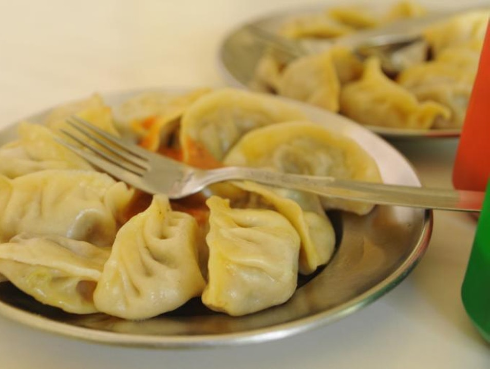 Traditional Momo's at a Himalayan Kitchen New Delhi  India