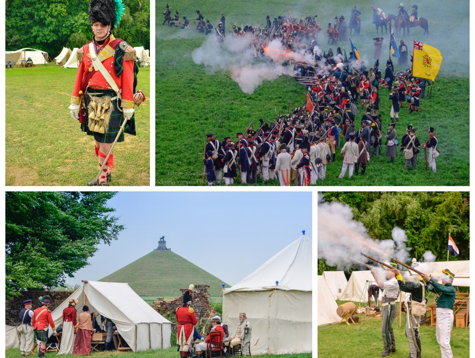 Battle of Waterloo reenactment  Waterloo  Belgium