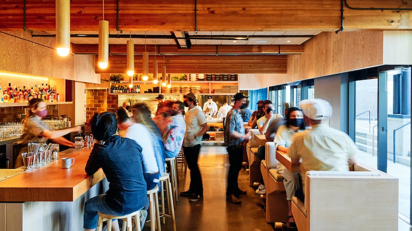 Restaurant and bar, Takibi, is now open in Portland.