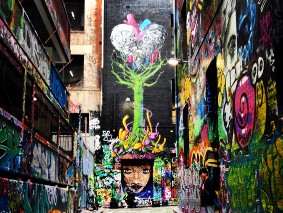 Alleys in Technicolor  Melbourne  Australia