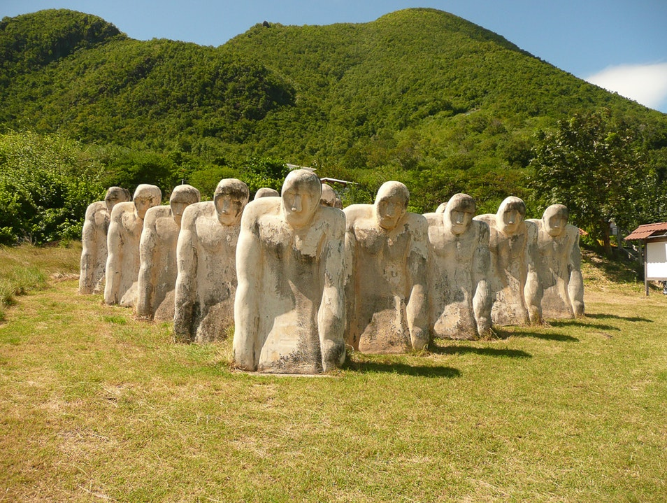 Visit the Anse Cafard Slave Memorial Le Diamant  Martinique