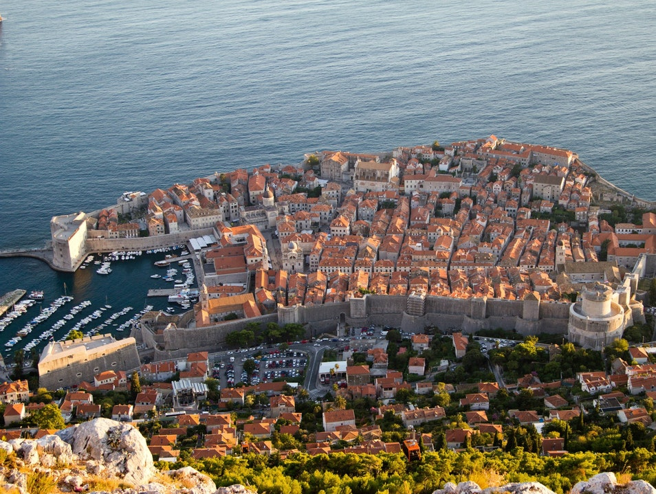 Dubrovnik from a high Dubrovnik  Croatia