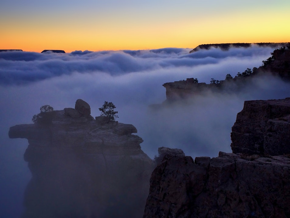Dawn Above the Grand Canyon, Finding Solitude North Rim Arizona United States