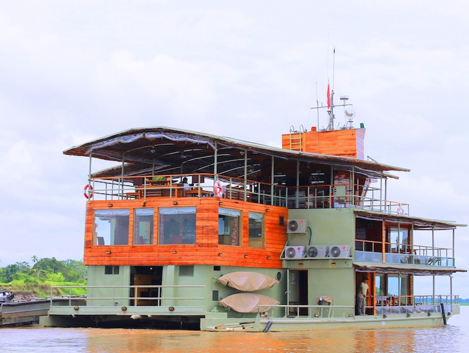 Cruising Down the Amazon River in Peru  Condorcanqui Province  Peru
