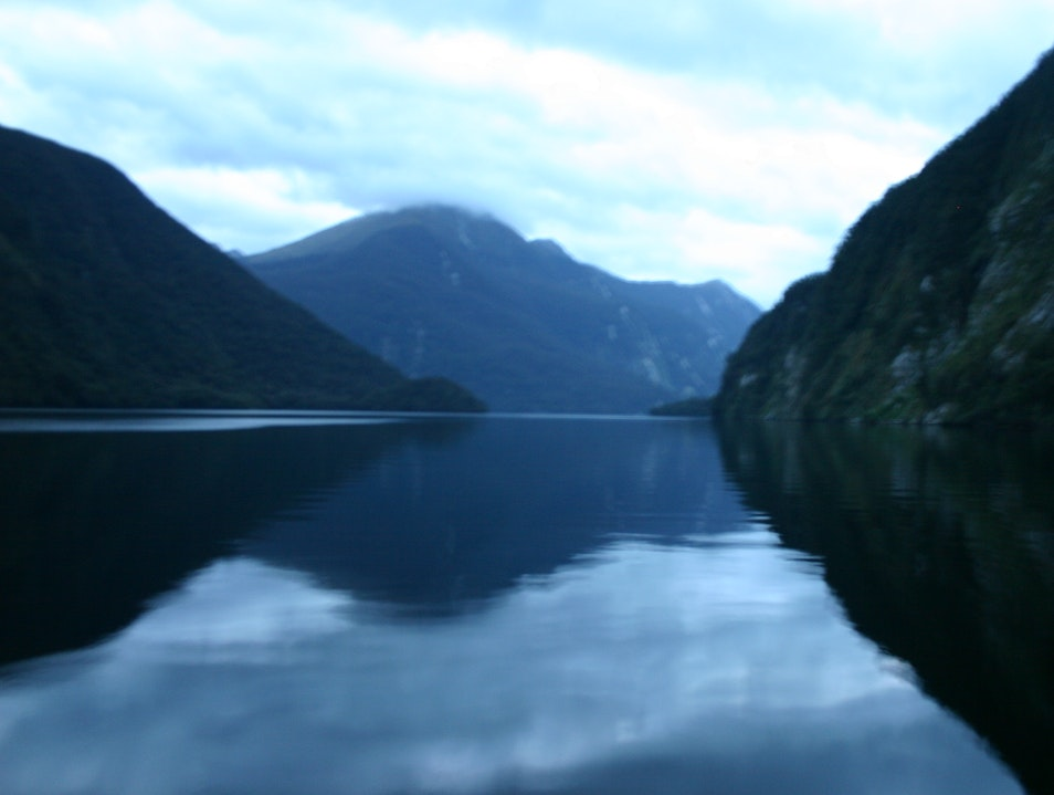 Cruising through New Zealand's fiordlands on a three day cruise Fiordland National Park  New Zealand
