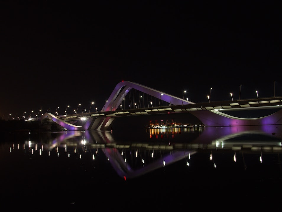Beautiful Bridge Abu Dhabi  United Arab Emirates