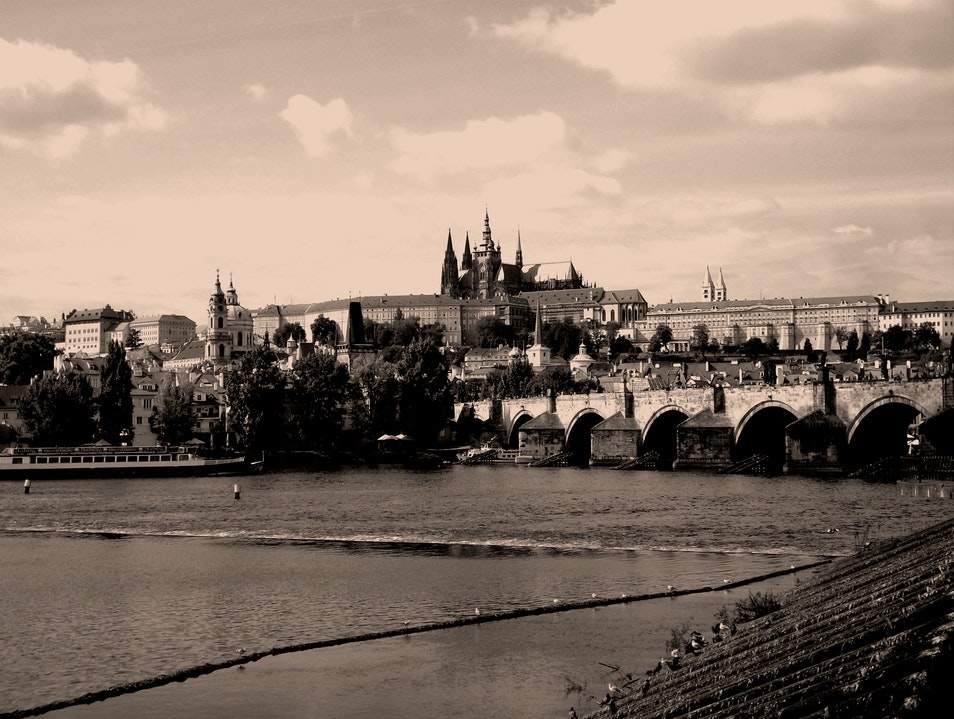 View of The Charles Bridge Prague  Czech Republic