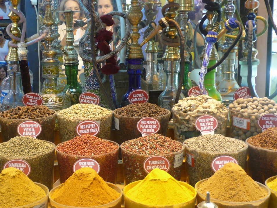Spices from around the world. Istanbul  Turkey