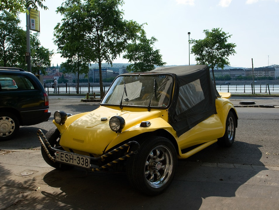 Dune buggy parked outside Budapest  Hungary
