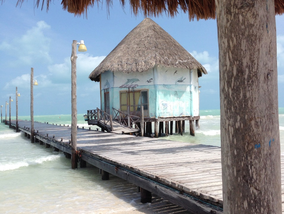 Fishing Village With A National Park Yucatan  Mexico