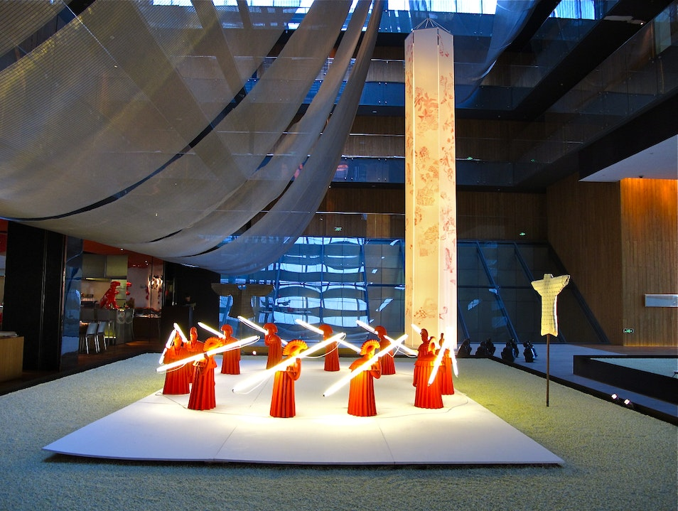 Quarterly exhibitions in the hotel's atrium Beijing  China