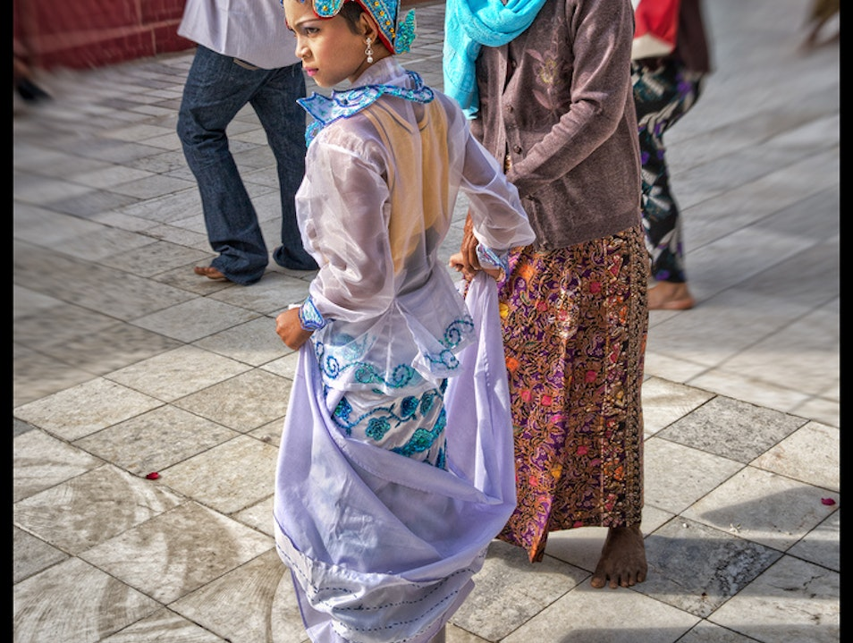 Youth, Protector Of The Old Mandalay  Myanmar