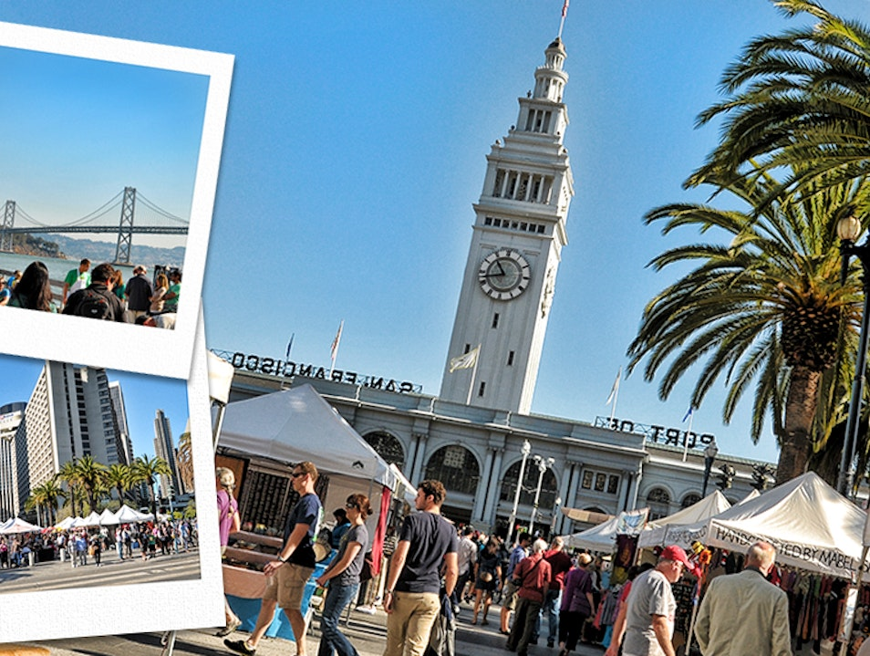 Saturday Market At The Ferry Building San Francisco California United States