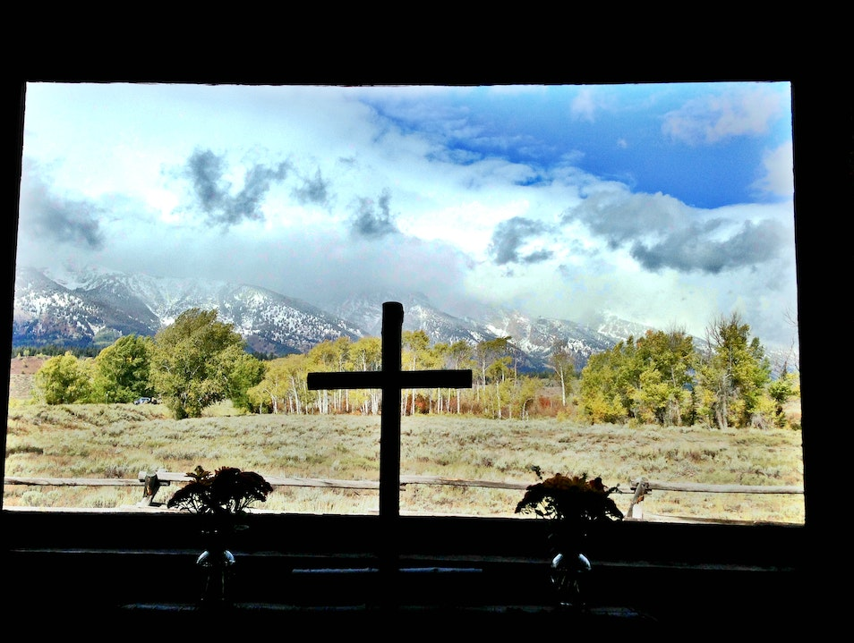 Inside the Chapel of the Transfiguration Moose Wyoming United States