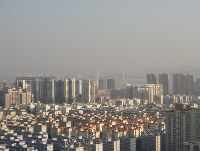 View from Shenzhen, China to Kowloon SAR