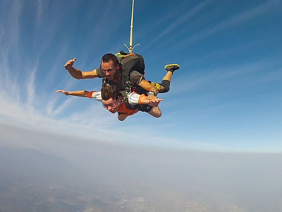 Skydive over the Sea  Puerto De Vallarta  Mexico