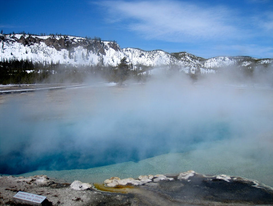 Winter Blues in Yellowstone Yellowstone National Park Wyoming United States