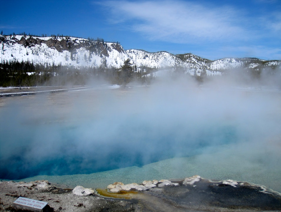 Winter Blues in Yellowstone