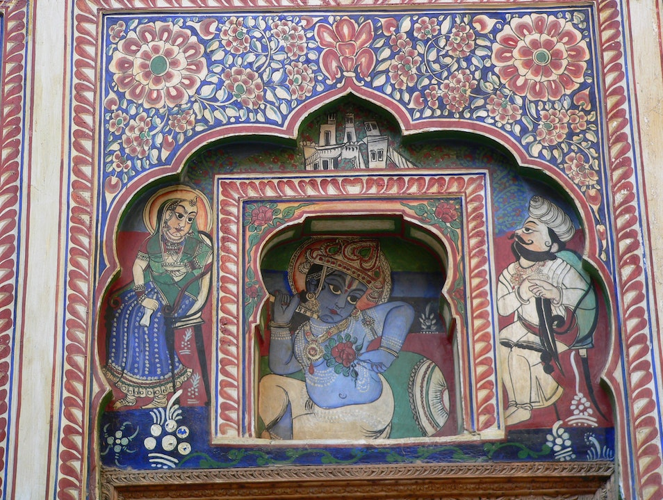 "The Shekhawati, Rajasthan's  ""open art gallery"" of Painted Houses Mandawa  India"